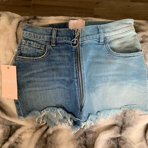 Revice denim yin yang short